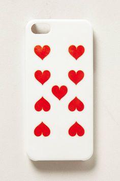 Nine of Hearts iPhone 5 Case - anthropologie.com