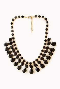 Faceted Faux Stone Necklace | FOREVER 21 - 1021400119