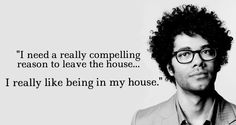 Richard Ayoade haha introverted thought