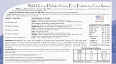Canine Caviar Pet Foods Inc. Wild Ocean Holistic Grain Free Entrée for Cats and Kittens -- Read more at the image link. (This is an affiliate link) Food Inc, Nursing Supplies, Cat Training Pads, Cat Id Tags, Cat Shedding, Dry Cat Food, Cat Fleas, Cat Memorial, Cat Grooming