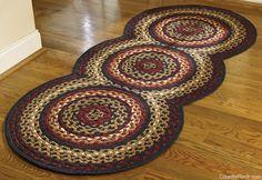 Folk Art Braided Rug Runner