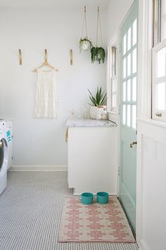 Elsie's laundry room tour (before + after)