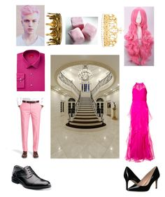 """Prince Gumball and Princess Bubblegum"" by skye-plays-too-many-video-games ❤ liked on Polyvore featuring Badgley Mischka, Brooks Brothers, Alfani, Florsheim, BCBGeneration, Seletti and Effy Jewelry"