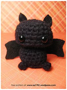 by Karissa Cole Amigurumi bat pattern, and lots of rhyming. x] A Distinctly Batty Post : Batty! by Karissa Cole Amigurumi bat pattern, and lots of rhyming. x] PATTERN: Ellis the Elephant crochet elephant pattern Crochet Diy, Crochet Crafts, Crochet Dolls, Yarn Crafts, Ravelry Crochet, Crochet Garland, Crochet Pour Halloween, Knitting Projects, Crochet Projects