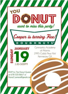 Hey, I found this really awesome Etsy listing at https://www.etsy.com/listing/171482780/krispy-kreme-donut-party-printable