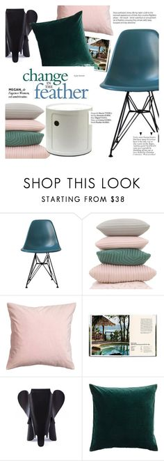 """""""change in the feather"""" by punnky ❤ liked on Polyvore featuring interior, interiors, interior design, home, home decor, interior decorating, Nomess, Ciel and Haute Hippie"""
