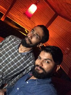 Buddies who #travel! #colleague #officeparty , #traveler  the #beard factor! 😈
