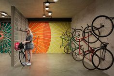 Essentials Of The Bicycle Wheels Garage Boden, Bicycle Storage, Bike Storage Room Design, Bike Room, Bike Store, Bicycle Shop, Student House, Lobby Interior, Bike Parking
