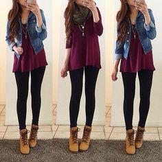 #herbst#outfit#jeansjacke#schwazehose#winterschuhe