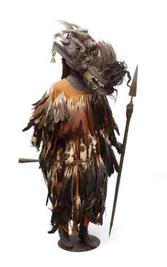 Africa | Complete ritual mask and costume from the Bambara people of Mali | 19th century