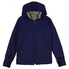 Boy's Navy Jacket with Check Lining / Free UK Delivery & Returns on all Orders