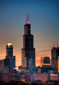 Chicago Skyline...THE WILLIS TOWER,CHICAGO