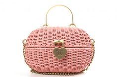 Authentic Chanel Pink Rattan Basket Shoulder Bag Rare...love....