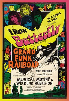 Iron Butterfly and Grand Funk Railroad - Poster 1967