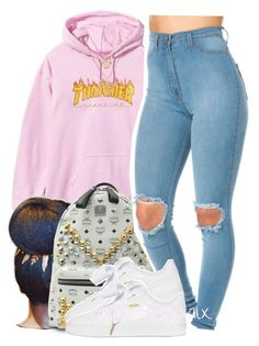 """""""{The Summer's over, and we're watching the sun finally set}"""" by xbad-gyalx ❤ liked on Polyvore featuring MCM, Puma and Chicnova Fashion"""