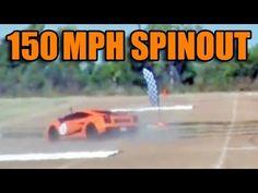 Lamborghini survives crazy 150 mph spin out