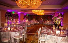 purple magenta silver wedding ~ windsor complex at the Hotel Del Coronado