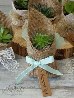 Μπομπονιερες με παχυφυτα λουλουδια, annassecret, Χειροποιητες μπομπονιερες γαμου, Χειροποιητες μπομπονιερες βαπτισης
