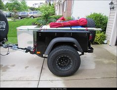 Jeep Trailer Jeep Camping Trailer, Off Road Trailer, Jeep Wrangler Accessories, Jeep Accessories, Off Road Camping, Camping Gear, Ford Bronco Ii, Suv Camper, Adventure Trailers