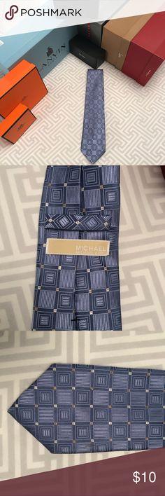 Michael Kors Blue 100% Silk Tie Michael Kors Blue 100% Silk Tie Great Condition!! MICHAEL Michael Kors Accessories Ties