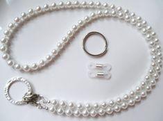 White Swarovski Pearl Convertible Eyeglass Lanyard Necklace Chain - Eye Glasses Chain - More Colors Avail. Lanyard Necklace, Necklace Chain, Beaded Lanyards, Eyeglass Holder, Swarovski Pearls, Handcrafted Jewelry, Eyeglasses, Beaded Jewelry, Jewelery