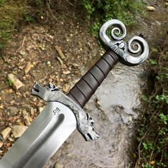 Lady Feral — coolkenack: From Baltimore Knife and Sword Co. Fantasy Sword, Fantasy Weapons, Swords And Daggers, Knives And Swords, Vikings, Blacksmithing Knives, Armas Ninja, Grandeur Nature, Viking Sword