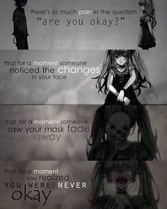 Sad anime quotes part 2 [end] Motivacional Quotes, Dark Quotes, True Quotes, Best Quotes, Sad Anime Quotes, Manga Quotes, Image Citation, Depression Quotes, Hatsune Miku