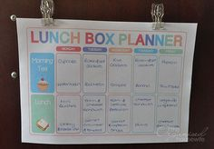 Planning food for lunch boxes is just as important as planning dinners : The Organised Housewife : Ideas for organising and Cleaning your ho. Lunch Snacks, School Snacks, Lunch Recipes, Organised Mum, Organised Housewife, Family Organizer, Meal Planner, Menu Planning, Kids Meals