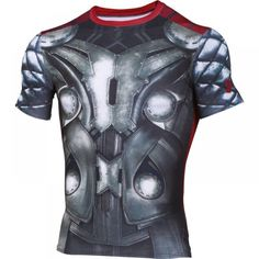 Under Armour Alter Ego Thor Compression Top Thor, Under Armour, Alter Ego, Captain American, Superman, Motorcycle Jacket, How To Wear, Jackets, Shirts