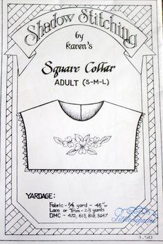 Vintage Shadow Stitching by Karen's Art & by DollDudzAndMore