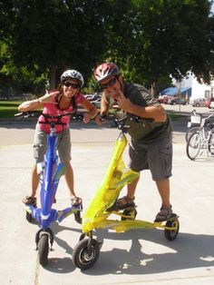 Rocking and Rolling on electric Trikkes.  www.chelanelectricbikes.com