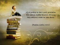 Read your Bible today.