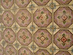 Portuguese tiles at Chiado - Lisbon, Portugal
