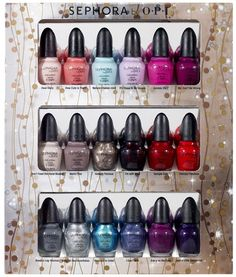 Sephora by O.P.I nail polish set I got for Christmas