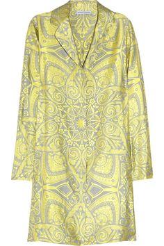 Jonathan Saunders Langley silk-blend jaquard coat