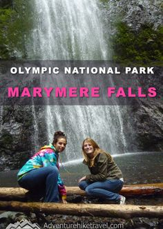 Marymere Falls - Easy Hike in Olympic National Park - Adventure Hike Travel Washington Nationals Park, Washington State, Hiking Trails With Waterfalls, Evergreen State, Tourist Sites, Oregon Travel, United States Travel, Outdoor Travel, Cool Places To Visit