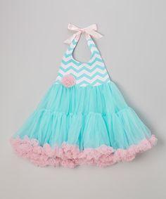 Look at this #zulilyfind! Blue & Pink Zigzag Halter Pettidress - Toddler & Girls by Tutus by Tutu AND Lulu #zulilyfinds