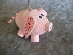 3D Pig      Quilling