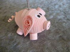 3D Pig      Quilling