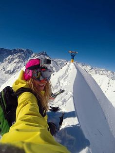 On the edge! I have resolved to buy a GoPro for this next ski season of 14-15.