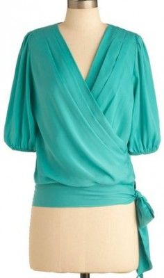 Stitch Fix Stylist - Love the color & wrap style...prefer different sleeves though...something more tailored perhaps.