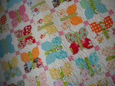 A Quilting Life - a quilt blog: Butterflies - painted ladies