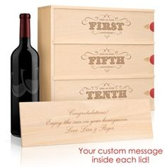 Personalized Wine Box For Wedding Gift Then Future Anniversaries