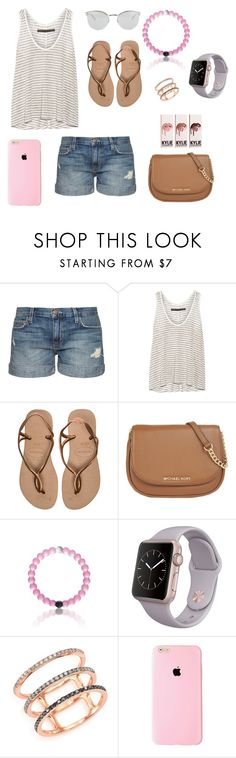 """""""Sunny dayzz"""" by swimmer1023 ❤ liked on Polyvore featuring Current/Elliott, Enza Costa, Havaianas, MICHAEL Michael Kors, EF Collection, Fendi, women's clothing, women's fashion, women and female"""