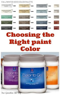 How to choose the right paint color
