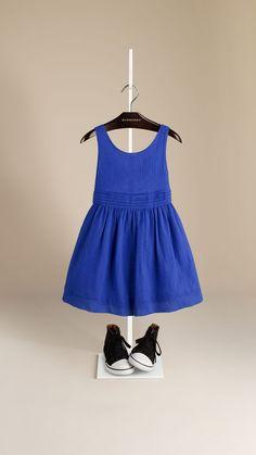 Cotton Crepon Sun Dress | Burberry