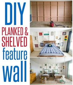 DIY Home Ideas ~ Check out this tutorial for building a shiplap feature wall for around a $100. It totally changes the look of the space!: