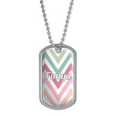 Dog Tag Pendant Necklace Chain Names Female To-Ty