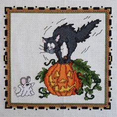 Ghost Mouse Halloween Cross Stitch Pattern by StitchNotions