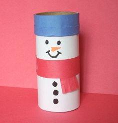 Toilet Paper Roll Snowman Craft